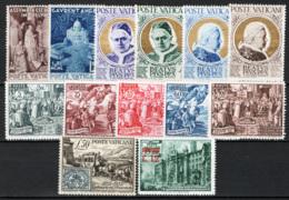 Vaticano 1951/52 Annate Completa Ordinaria /Complete Year Ordinary Set  MNH/** VF - Annate Complete