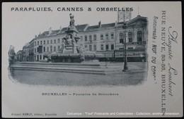 Bruxelles, Fontaine De Brouckère Publicité Advertising Parapluies, Cannes & Ombrelles - Commercio