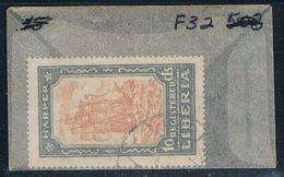 Liberia F32 Used Sailing Ship 1924 (L0574) - Liberia