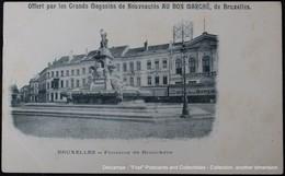 Bruxelles Fontaine De Brouckère – Publicité Advertising  Magasins AU BON MARCHE - Commerce