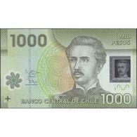 TWN - CHILE 161g - 1000 1.000 Pesos 2016 Polymer - Serie EJ - Signatures: Vergara & Zurbuchen UNC - Chile