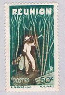 Reunion 253 MLH Cutting Sugar Cane 1947 (BP30117) - Reunion Island (1852-1975)
