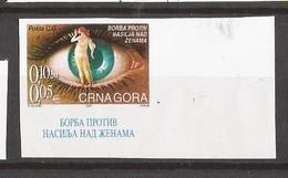 2001 RECHT FUER FRAUEN  MONTENEGRO JUGOSLAVIJA SERBIA SRBIJA SERBIEN  RRR IMPERFORATE SELTEN MNH - Montenegro