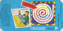 PUBLICITE-YOPLAIT--' Caucase '-pas A Pas Vers L'an 2000--( 1 élément De Puzzle Cartonné)-1877  Le Phonographe - Other