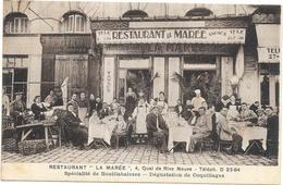 "MARSEILLE: RESTAURANT ""LA MAREE"" 4 QUAI DE RIVE NEUVE - Marseilles"