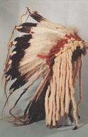Eagle Feather Bonnet , Mandan Tribe , N.D., American Indian Museum , NYC , 1940s - Indiens De L'Amerique Du Nord