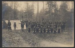 Carte Photo Scoutisme :Troupes Dans Les Bois Prenant La Pose /  (Charleroi (Nord)) - Scouting