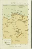 AFRICA - LIBIA / LIBYA - POSTCARD MAP OF CYRENAICA / CIRENAICA - ITALIAN PROPAGANDA 1930s  (BG3357) - Libya
