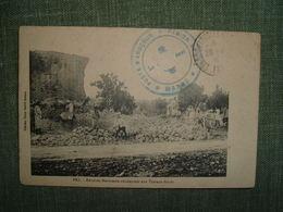 FEZ REVOLTES MAROCAINS CONDAMNES AUX TRAVAUX FORCES CACHET MILITAIRE POSTE ANOCEUR REGION FEZ MAROC 1915 PRISON - Fez