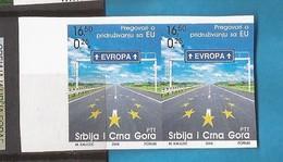 2005 3292 EUROPA  MONTENEGRO JUGOSLAVIJA SERBIA SRBIJA SERBIEN  RRR IMPERFORATE SELTEN MNH - Montenegro
