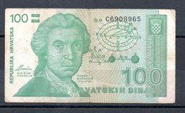 Banknotes - 100 HRD, 1991., Croatia, No C6908965 - Croatia