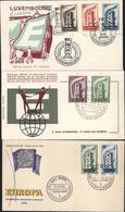 Europa 1956 Sur 6 Enveloppes 1er Jour Belgique France Italie Luxembourg YT 514 515 516 Pays-Bas Allemagne 13 Timbres - Autres - Europe