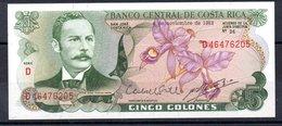 Banknotes - 5 Colones, 1982., Costa Rica  No D46476205 - Costa Rica