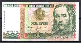 Banknotes - 1000 Intis, 1988., Peru No B5562600N - Pérou