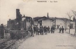 CP VERNOUX - ARDECHE 07 - LA GARE - Vernoux