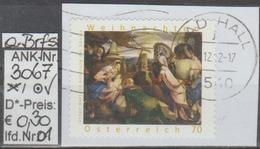 """16.11.2012 - SM """"Weihnachten-Jac. Bassano-Anbetung Der Könige"""" - O Gestempelt A. Briefstück - S. Scan (3067o 01-02 ABs) - 1945-.... 2. Republik"""