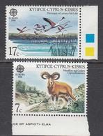 Cyprus 1986 - EUROPA(protection De La Nature), Mi-Nr. 655/56, MNH** - Chypre (République)