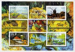ERITREA  2002    THE  IMPRESSIONIST   VINCENT  VAN  GOGH         S.SHEET    (TIMBRATO) - Eritrea