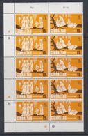 Gibraltar 1980 Gibraltar Christmas 2v  Se-tenant 5x ** Mnh (42748) - Gibraltar