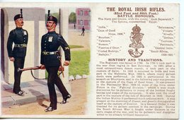 1246. LOT 2 CPA ENGLAND. MILITARY. THE PRINCE OF WALE'S VOLUNTEERS. THE ROYAL IRISH RIFLES - Non Classés