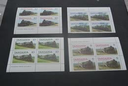 K21234 - 4 Sets In Bloc MNH Tanzania 1985 - Trains - Tanzania (1964-...)
