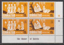 Gibraltar 1980 Gibraltar Christmas 2v  Se-tenant (pair)  ** Mnh (42748A) - Gibraltar