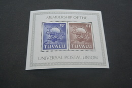 K21235 -Bloc MNH Tuvalu 1981 - Universal Postal Union - U.P.U.