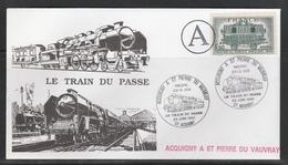 OBLIT. ILLUSTRÉE ACQUIGNY à St PIERRE Du V. - LOCOMOTIVE PACIFIC 231 - 23.6.91 - Postmark Collection (Covers)
