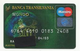 Romania Banca Transilvania,Exp. Date 2003. - Geldkarten (Ablauf Min. 10 Jahre)