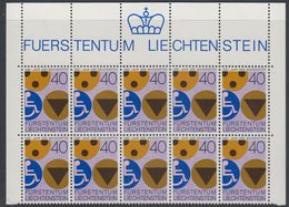 Liechtenstein 1981 Int. Jahr Der Behinderten 1v 10x ** Mnh (42750A) - Ongebruikt