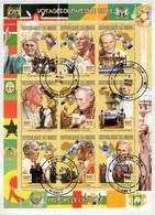 REPUBLIC   DU  NIGER  1998   VOYAGE  DU  PAPE  EN  AFRIQUE          S.SHEET    (TIMBRO 1° GIORNO) - Niger (1960-...)