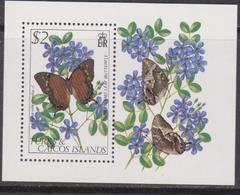 Turks And Caicos Is. - Farfalla Butterfly Sheet MNH - Turks E Caicos