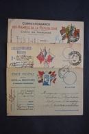 France - 1915-16  3 Cartes Postales Correspondance Militaire En Franchise - Marcophilie (Lettres)