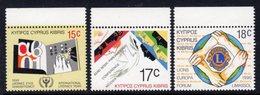 CYPRUS - 1990 ANNIVERSARIES & EVENTS SET (3V) FINE MNH ** SG 771-773 - Cyprus (Republic)