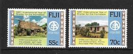 FIDJI 1987 LOGEMENT DES SANS-ABRIS  YVERT N°564/65  NEUF MNH** - Fidji (1970-...)