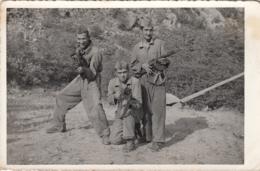 Yugoslavia - Soldiers W Machine Gun Real Photo Postcard - Yugoslavia