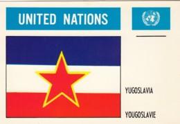 Yugoslavia Flag Postcard UN UNited Nations - Yugoslavia