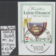 "17.11.2012 - SM ""Klass. Markenzeichen-Lenz Moser""  -  O Gestempelt Auf Briefstück - S. Scan  (3068o ABs) - 1945-.... 2. Republik"