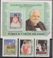 Turks And Caicos Is. - Diana Sheet + Set  MNH - Turks E Caicos