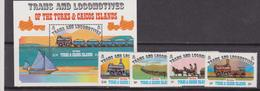 Turks And Caicos Is. - Trains And Locomotives Sheet + Set  MNH - Turks E Caicos