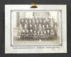 Fotografia D'epoca - Scuola Elementare Di Novara - Anno Scolastico 1911 - 1912 - Foto