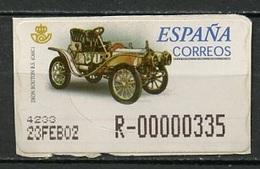 Espagne - Spain - Spanien Distributeur 2001 Y&T N°D55-335p - Michel N°ATM55-335p (o) - De Dion Bouton - Machine Stamps (ATM)