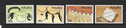 NAURU 1987 ARTISANAT  YVERT N°332/35  NEUF MNH** - Nauru