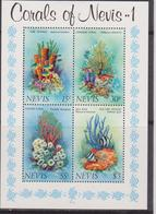 Nevis - Marine Life Corals Sheet MNH - Francobolli