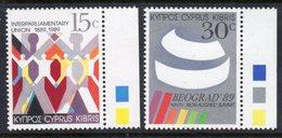 CYPRUS - 1989 INTERPARLIAMENTARY UNION SET (2V) FINE MNH ** SG 745-746 - Unused Stamps