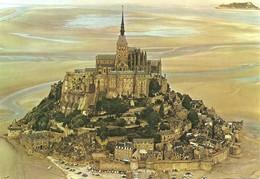 50 Le Mont Saint Michel Vue Aérienne (2 Scans) - Le Mont Saint Michel