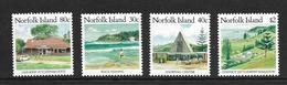 NORFOLK 1987 COURANTS  YVERT N°401/04 NEUF MNH** - Ile Norfolk