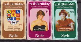 Nevis - Diana Set MNH - America (Other)