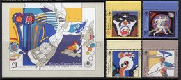 CYPRUS - 1989 3rd SMALL EUROPEAN STATES GAMES SET (4V) & MS FINE MNH ** SG 735-738, MS739 - Unused Stamps