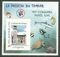 FRANCE MNH ** Bloc FFAP 14 Dentelé Congrès De PARIS 2018 La Maison Des Océans - FFAP